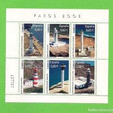 Sellos: EDIFIL 4430 H.B. FAROS. (2008).** NUEVO SIN FIJASELLOS.. Lote 128768131