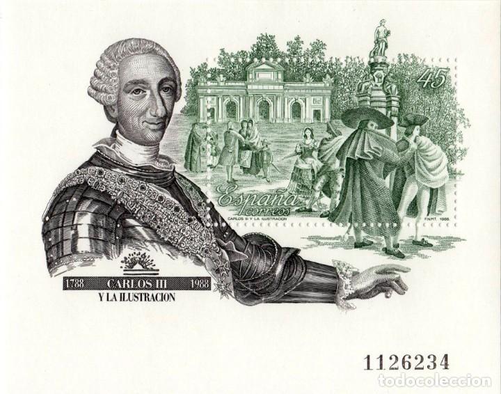 CARLOS III Y LA ILUISTRACIÓN 1788-1988 (Sellos - España - Juan Carlos I - Desde 1.986 a 1.999 - Nuevos)
