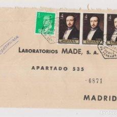 Sellos: SOBRE. CORREO AÉREO CERTIFICADO DE SANTA CRUZ DE TENERIFE. CANARIAS. A MADRID. 1977. Lote 128975871