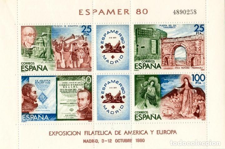 ESPAMER 80 MADRID (Sellos - España - Juan Carlos I - Desde 1.975 a 1.985 - Nuevos)
