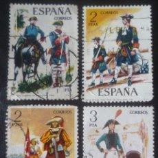 Sellos: LOTE DE CUATRO SELLOS DE ESPAÑA. TEMA MILITAR. Lote 129156359