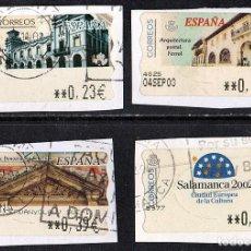 Sellos: VARIAS ETIQUETAS HTM ESPAÑA USADAS AÑOS 2002 (LOTE 2). Lote 129205479
