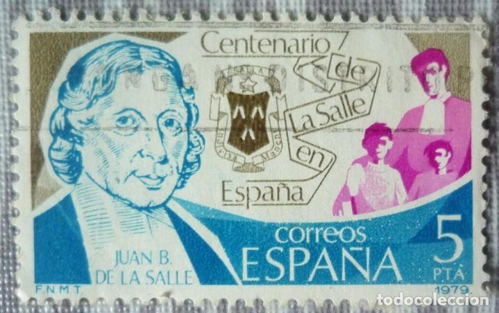 SELLO DE ESPAÑA. TEMA: CENTENARIO DE LA SALLE EN ESPAÑA (Sellos - España - Juan Carlos I - Desde 1.975 a 1.985 - Usados)