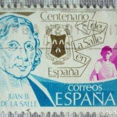 Sellos: SELLO DE ESPAÑA. TEMA: CENTENARIO DE LA SALLE EN ESPAÑA. Lote 129554787