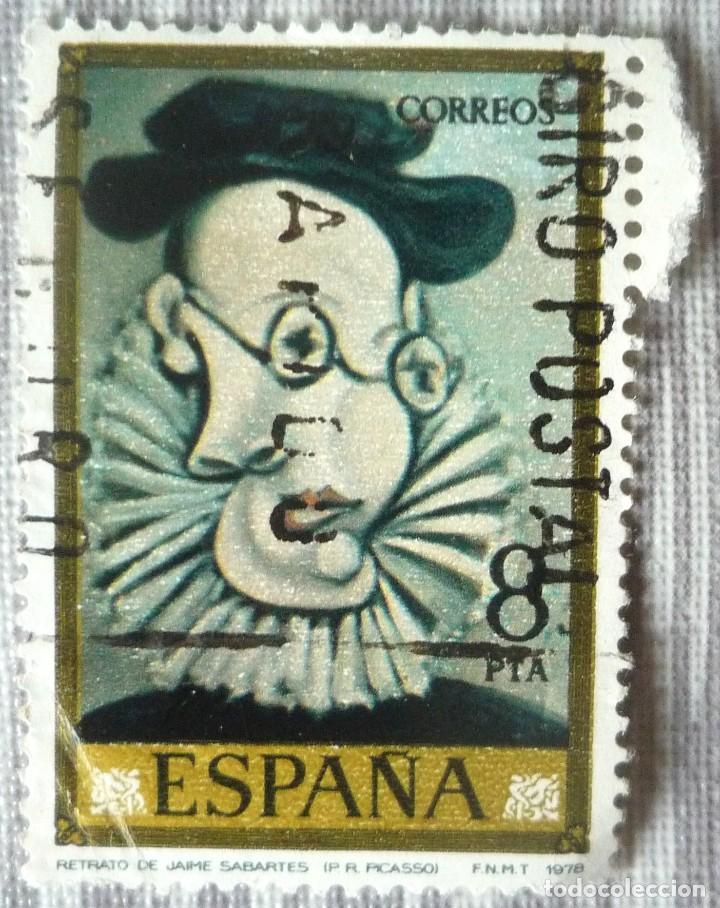 SELLO DE ESPAÑA. TEMA: RETRATO DE JAIME SABARTES (Sellos - España - Juan Carlos I - Desde 1.975 a 1.985 - Usados)
