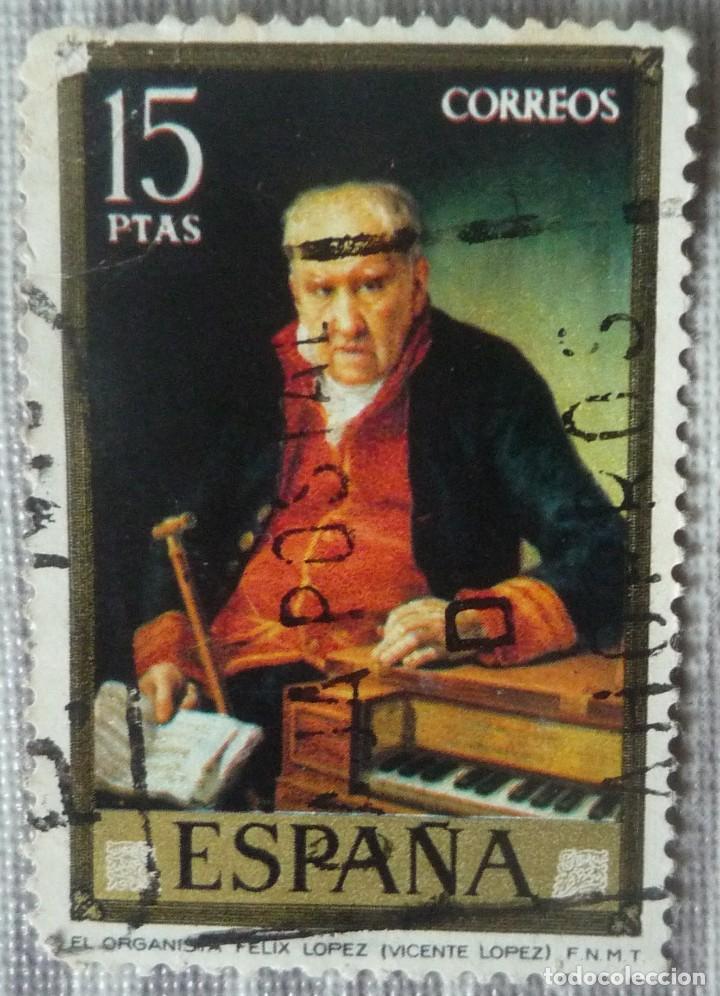 SELLO DE ESPAÑA. TEMA: EL ORGANISTA FELIX LOPEZ (Sellos - España - Juan Carlos I - Desde 1.975 a 1.985 - Usados)