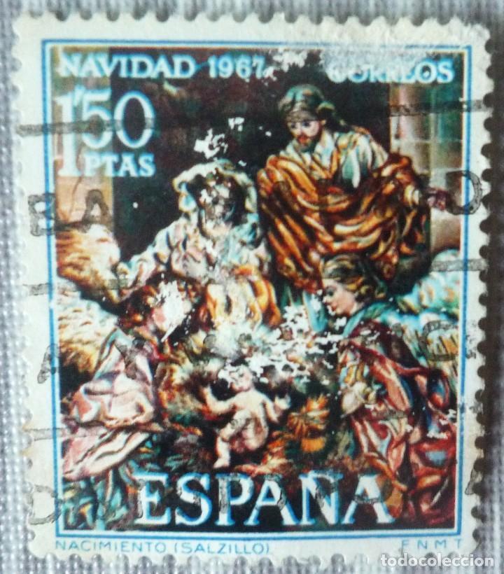 SELLO DE ESPAÑA. TEMA: NAVIDAD 1967 (Sellos - España - Juan Carlos I - Desde 1.975 a 1.985 - Usados)