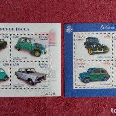 Sellos: DOS HOJAS BLOQUES DE COCHES NUEVAS BAJO FACIAL DE 2012 Y 13. Lote 99072051