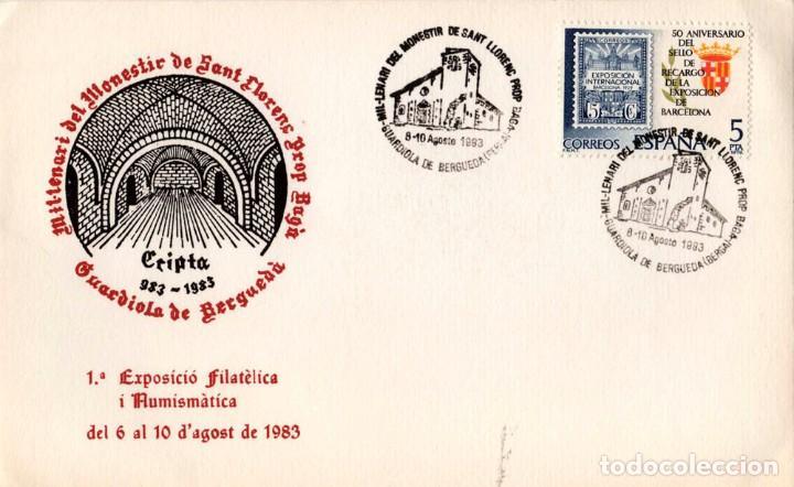 TARJETA 1º EXP. FILATÈLICA I NUMISMÀTICA 1983 (Sellos - España - Juan Carlos I - Desde 1.975 a 1.985 - Cartas)