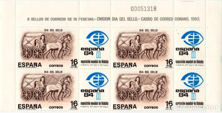 4 SELLOS EMISION DIA DEL SELLO - CARRO DE CORREO ROMANO 1983 (Sellos - España - Juan Carlos I - Desde 1.975 a 1.985 - Nuevos)