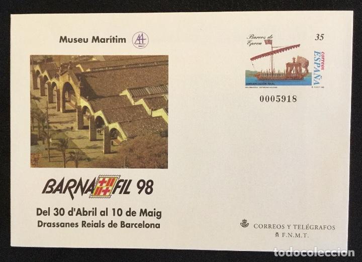 Sellos: SOBRES ENTEROS POSTALES ESPAÑA 1998 ed nº 45 A/D - exposición BARNAFIL 98 , barcos -- SOBRE ENTERO - Foto 2 - 177638165