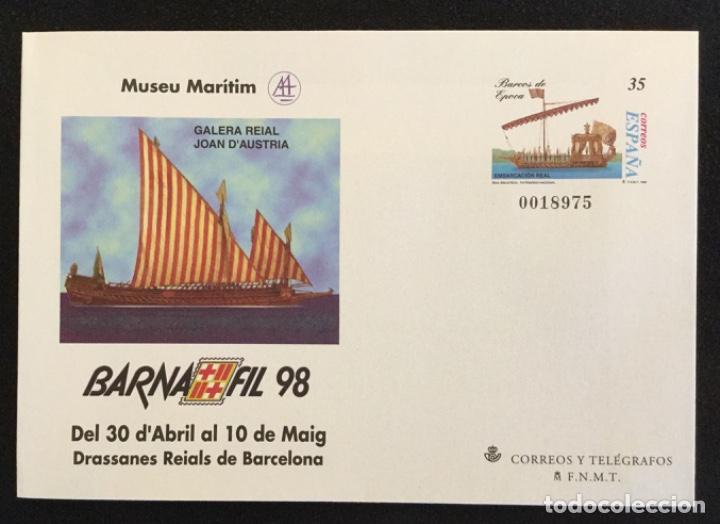 Sellos: SOBRES ENTEROS POSTALES ESPAÑA 1998 ed nº 45 A/D - exposición BARNAFIL 98 , barcos -- SOBRE ENTERO - Foto 3 - 177638165