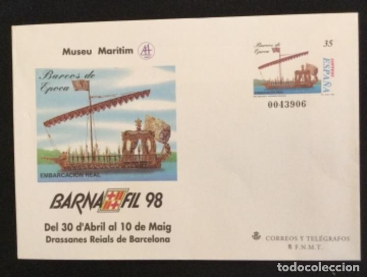 Sellos: SOBRES ENTEROS POSTALES ESPAÑA 1998 ed nº 45 A/D - exposición BARNAFIL 98 , barcos -- SOBRE ENTERO - Foto 4 - 177638165