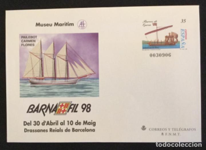 Sellos: SOBRES ENTEROS POSTALES ESPAÑA 1998 ed nº 45 A/D - exposición BARNAFIL 98 , barcos -- SOBRE ENTERO - Foto 5 - 177638165