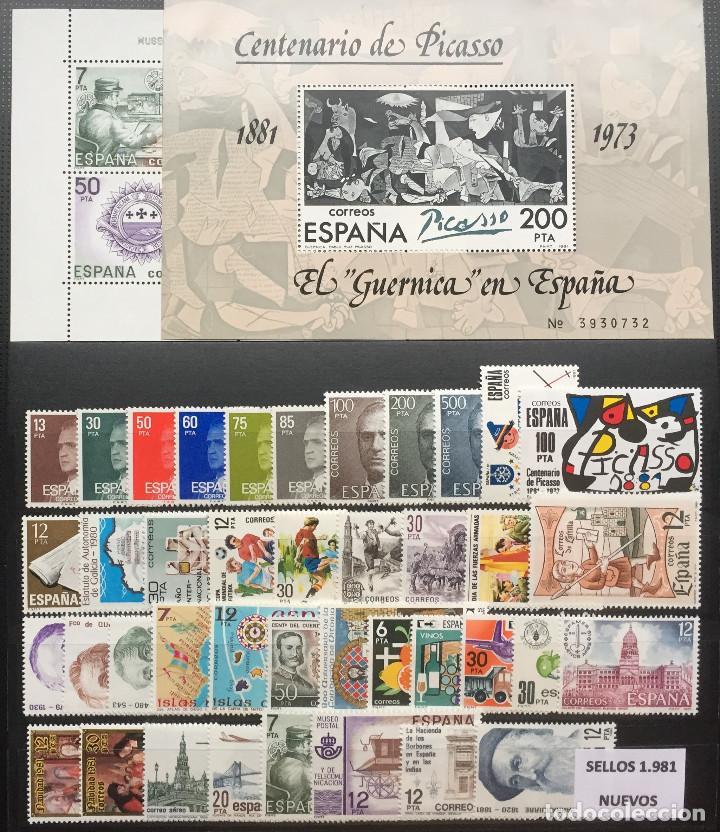 SELLOS ESPAÑA 1981** NUEVOS CON UN JUEGO DE HOJAS BLOQUE (Sellos - España - Juan Carlos I - Desde 1.975 a 1.985 - Nuevos)