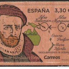 Sellos: ESPAÑA 2018 DESCUBRIDORES DE OCEANÍA. ALVARO DE MENDAÑA Y NEIRA ED 5245. Lote 130900760