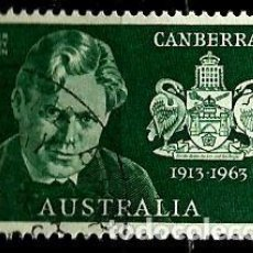 Sellos: AUSTRALIA YV 0286 CAMBERRA CAPITAL FEDERAL; W. BURLEY GRIFFIN (USADO). Lote 130936276