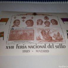 Sellos: SELLO, XVII FERIA NACIONAL DEL SELLO 1985, MADRID , NUEVO. Lote 130991087