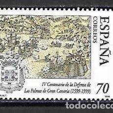 Sellos: IV CENT. DE LA DEFENSA DE LAS PALMAS,CANARIAS. SELLO EMIT. 25-6-99. Lote 131127092