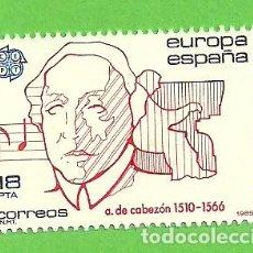 Sellos: EDIFIL 2788. EUROPA-CEPT. - ANTONIO DE CABEZÓN. (1985).** NUEVO Y SIN FIJASELLOS.. Lote 131168220