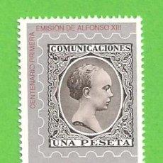 Sellos: EDIFIL 3024. CENTENARIO DE LA PRIMERA EMISIÓN DE ALFONSO XIII, ''PELÓN''. (1989).** NUEVO.. Lote 131190172
