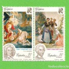 Sellos: EDIFIL 3088-3089. (SH 3090 C-D). PATRIMONIO ARTÍSTICO NACIONAL. TAPICES. (1990).** NUEVOS.. Lote 131194940