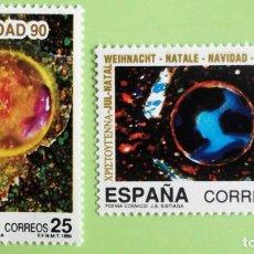 Sellos: ESPAÑA. 3084/85 NAVIDAD: POEMA CÓSMICO. 1990. SELLOS NUEVOS Y NUMERACIÓN EDIFIL.. Lote 131208740