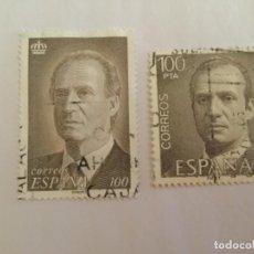 Sellos: 2 SELLOS JUAN CARLOS I DE 100 PESETAS, USADOS.. Lote 131496870