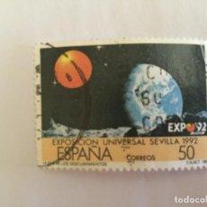 Sellos: SELLO CORREOS ESPAÑA SEVILLA EXPO 92. 50 PESETAS. USADO. Lote 131499966