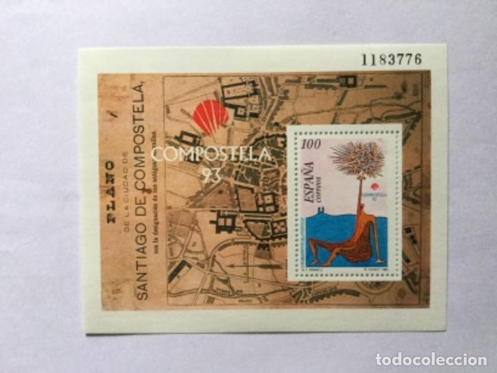 HOJITA SANTIAGO DE COMPOSTELA 93 (Sellos - España - Juan Carlos I - Desde 1.986 a 1.999 - Nuevos)