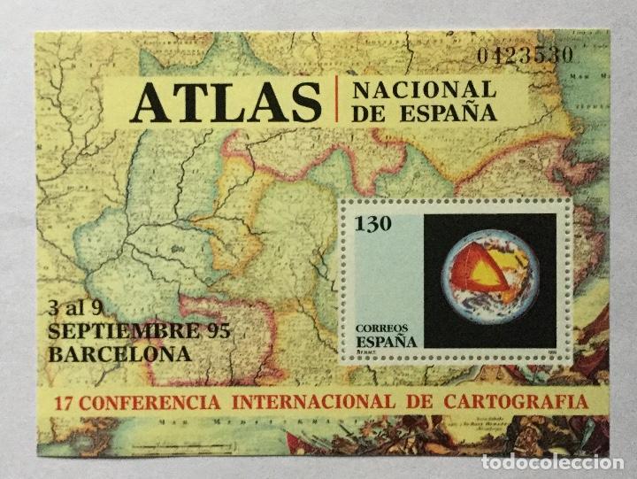 CONFERENCIA INTERNACIONAL DE CARTOGRAFÍA 1995 (Sellos - España - Juan Carlos I - Desde 1.986 a 1.999 - Nuevos)