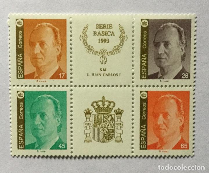 SERIE BÁSICA 1993 (Sellos - España - Juan Carlos I - Desde 1.986 a 1.999 - Nuevos)