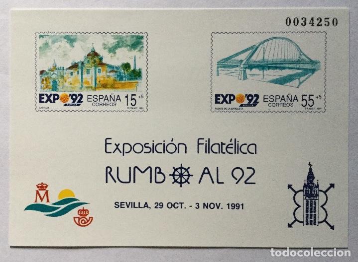PRUEBA RUMBO AL 92 1991 (Sellos - España - Juan Carlos I - Desde 1.986 a 1.999 - Nuevos)