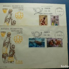 Sellos: ESPAÑA 1976 - JUEGOS OLIMPICOS DE MONTREAL 76 - EDIFIL Nº 2340-43 - SPD - FDC. Lote 132098854