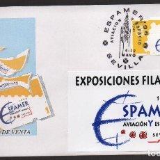 Sellos: SOBRE, EXPOSICION SPAMER SEVILLA, AVIACION Y ESPACIO, 4-12 MAYO 1996, VER FOTOS. Lote 132174678