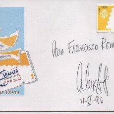 Sellos: EXPOSICION SPAMER ,DEDICATORIA:MIGUEL LOPEZ-ALEGRIA, 1ER AUTRONAUTA ESPAÑOL. 2 MAYO 1996, VER FOTOS. Lote 132175006
