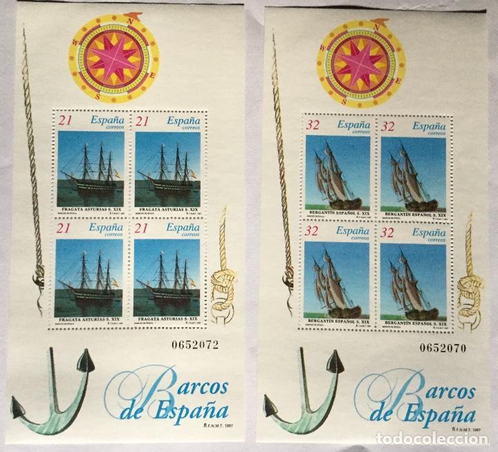 HOJITAS BARCOS 1997 (Sellos - España - Juan Carlos I - Desde 1.986 a 1.999 - Nuevos)