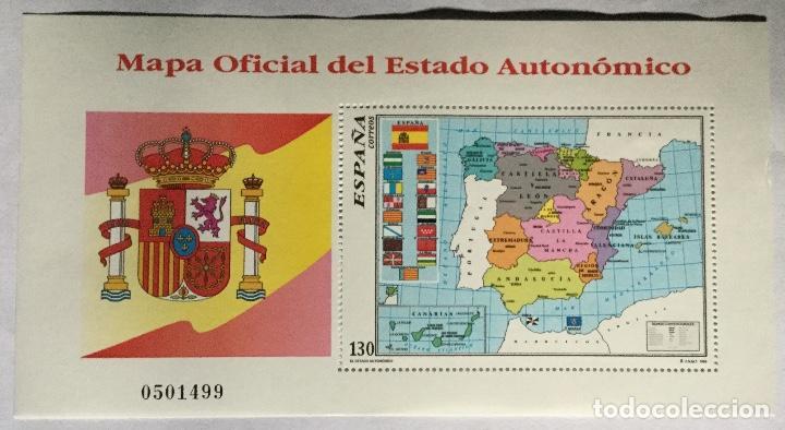 MAPA OFICIAL DEL ESTADO AUTONÓMICO (Sellos - España - Juan Carlos I - Desde 1.986 a 1.999 - Nuevos)