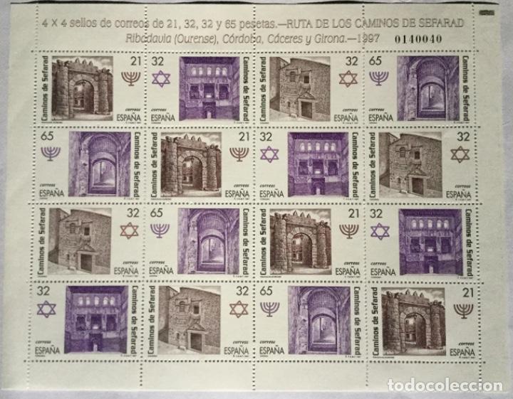 MINIPLIEGO LOS CAMINOS DEL SEFARD (Sellos - España - Juan Carlos I - Desde 1.986 a 1.999 - Nuevos)