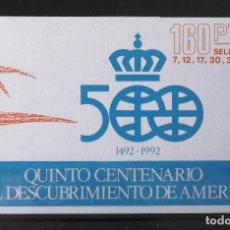 Sellos: EDIFIL 2860C, DIEZ CARTERITAS CON LOS SEIS VALORES DE LA SERIE, NUEVOS, SIN CH., FOTO ESTÁNDAR.. Lote 132794254