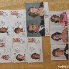 Sellos: L525, 5 SOBRES Y 5 TARJETAS POSTALES, MATASELLOS ESPAÑA 1984, FAMILIA REAL, VER FOTO. BONITO LOTE. Lote 132841586