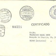 Sellos: CARTA CIRCULADA CON LA FRANQUICIA DE LA CASA DE S.M. EL REY , GUARDIA REAL - MONARQUIA. Lote 133670826