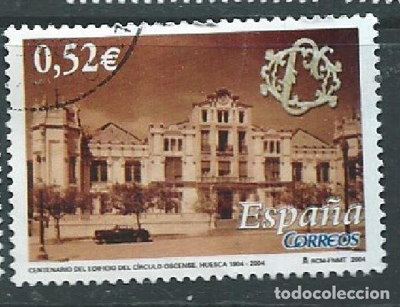 ESPAÑA 2004 EDIFICIO DE CÍRCULO OSCENSE ED 4110 YV 3689 (Sellos - España - Juan Carlos I - Desde 2.000 - Usados)