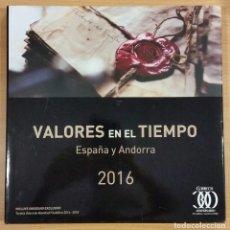 Sellos: LIBRO CARPETA ALBUM OFICIAL DE CORREOS 2016 DE ESPAÑA Y ANDORRA ESPAÑOLA SIN LOS SELLOS . Lote 143906020