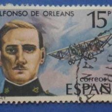 Sellos: USADO. AÑO 1980. EDIFIL 2597. PIONEROS DE LA AVIACIÓN. ALFONSO DE ORLEANS Y BORBÓN. Lote 134019430