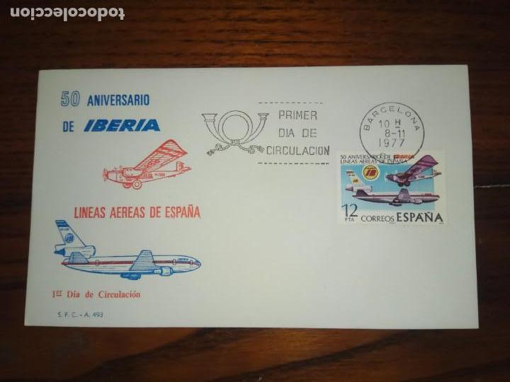 SPD.50 ANIVERSARIO DE IBERIA.1977. (Sellos - España - Juan Carlos I - Desde 1.975 a 1.985 - Cartas)