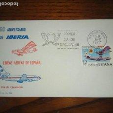 Sellos: SPD.50 ANIVERSARIO DE IBERIA.1977.. Lote 134042146