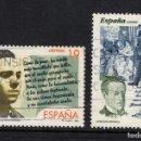 Sellos: ESPAÑA 3356/57 - AÑO 1995 - LITERATURA ESPAÑOLA - PERSONAJES DE FICCION. Lote 164868877