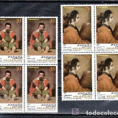 Sellos: 1999 EDIFIL 3658/59** NUEVOS SIN CHARNELA. BLOQUE DE CUATRO. VELAZQUEZ. Lote 134060010