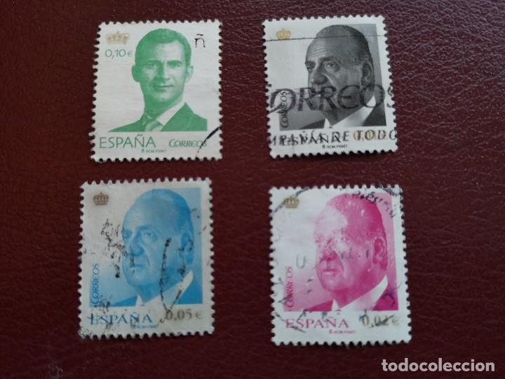 LOTE DE 4 SELLOS USADOS (Sellos - España - Juan Carlos I - Desde 2.000 - Usados)